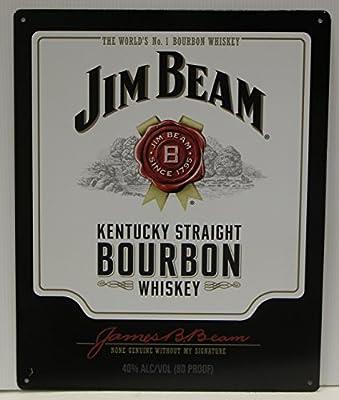 Jim Beam Whiskey bottle label Metal Sign Kentucky straight bourbon whiskey Logo Sign