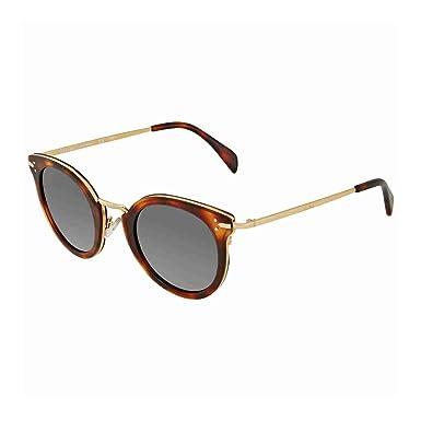af4d3f60212 Celine Lea CL41373 3UAIR (Havana - Gold with Grey lenses) at Amazon ...
