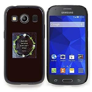 Stuss Case / Funda Carcasa protectora - Guirnalda del Negro dios impresiones Cita cristiana - Samsung Galaxy Ace Style LTE/ G357