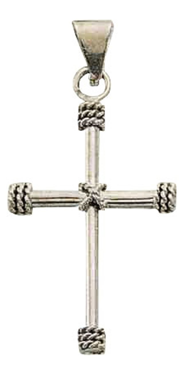 Sterling Silver 20'' Boys 1.2mm Box Chain Christian Religious Cross Pendant Necklace