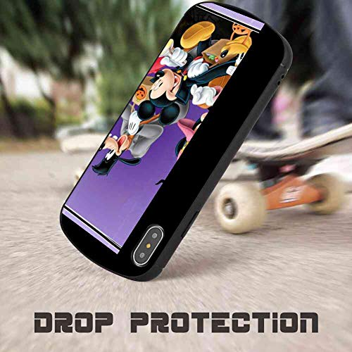 DISNEY COLLECTION Shockproof Case Cover Compatible with Apple iPhone Xs Max [6.5in] Halloween Mickey Mouse and Minnie Mouse Goofy Donald Duck Pluto Disney Halloween -