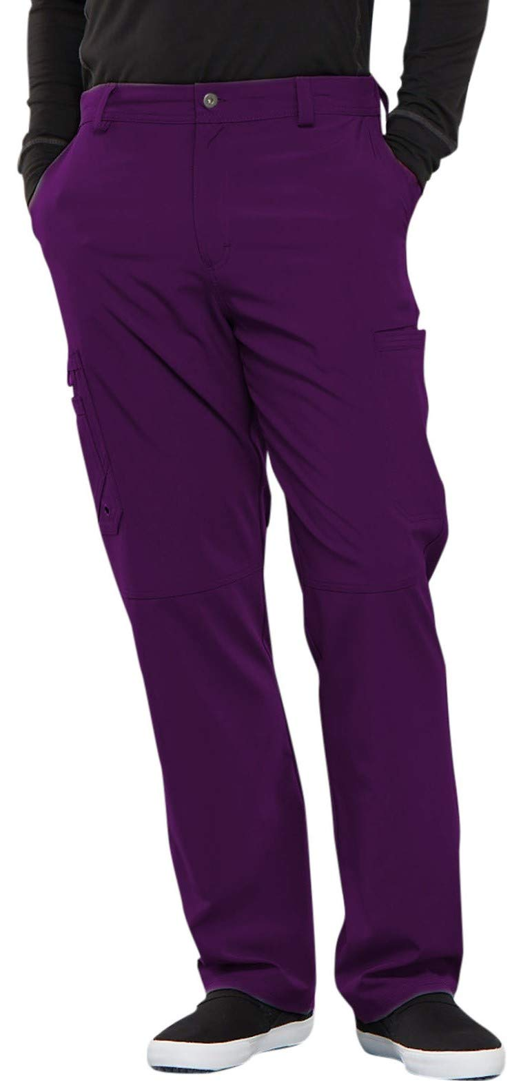 Cherokee Infinity CK200A Men's Fly Front Cargo Pant Eggplant 2XL Short by Cherokee