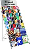 Displays2go Wire Display Rack for Books, Magazines and CDs, 29-Inch Wide Floor-Standing Fixture with 10 Display Tiers, Black (WRF10T29)