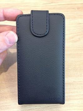 Negra Funda de Cuero para Samsung GT-S6102 / S6102 (S6102B) Galaxy ...