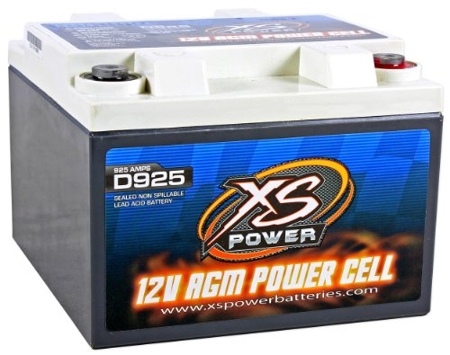 XS Power D925 AGM Audio Series 2000 Max Amp 550 Cranking Amp