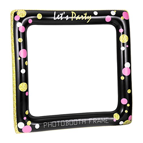 LUOEM Inflatable Selfie Frame Picture Selfie Frame Party Fun Photo Booth Props Party Supplies for Birthday Baby Shower Wedding