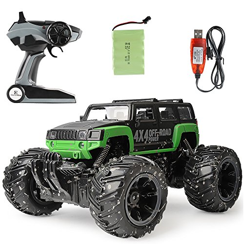 Distance Control - Herwiss RC Car, 1:16 Scale Electric Vehicle for Kids, 4x4 Off-Road Power Monster Truck, High Speed Racing Toy Crawler with Powerful Motor, Built-in Rechargeable Battery - 60 m Control Distance