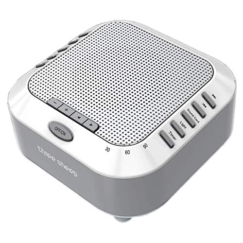three sheep White Noise Machine Sound Machine, Music Player with Night Light, Preset 5 Soothing Sounds, Timer, and Rechargable Battery ()