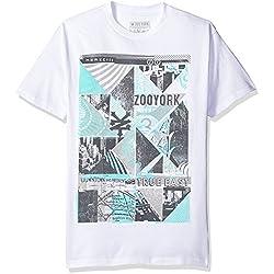 Zoo York Men's Short Sleeve Callider T-Shirt, White, Large