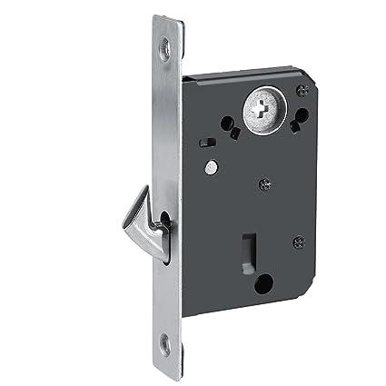 Fdit Zinc Alloy Sliding Door Locks Wooden Invisible Door Lock with 3 Keys Furniture Hardware Latch
