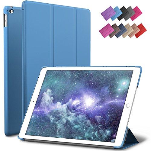 iPad Mini 4 Case, ROARTZ Blue Slim Fit Smart Rubber Coated Folio Case Hard Cover Light-Weight Auto Wake/Sleep For Apple iPad Mini 4th Generation Model A1538/A1550 Retina Display