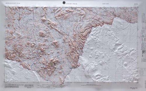 Emory Wood - American Educational Emory Peak Texas Map with Oak Wood Frame, 31-3/4