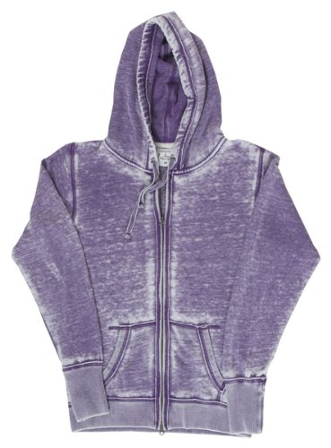 J America Women's Vanity Zen Fleece Full-Zip Hooded Sweatshirt America Polyester Fleece