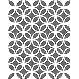 J BOUTIQUE plantillas de círculos diseño de rombos plantillas - pequeña escala - Plantilla para Manualidades DIY decor lienzo
