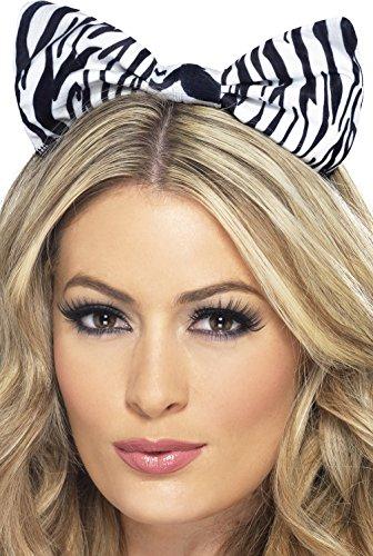 [Fever Women's Zebra Bow On Headband On Display Card, Multi, One Size] (Zebra Head Costumes)