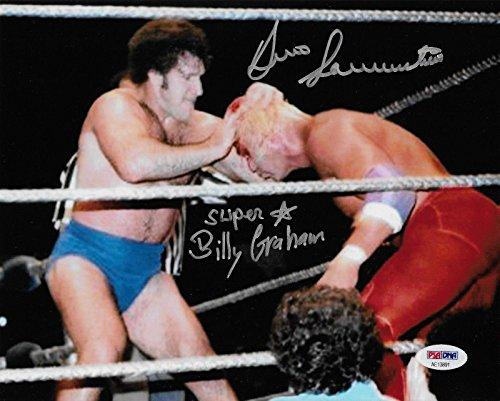 (Bruno Sammartino & Superstar Billy Graham Wwf Signed Autograph 8x10 Photo - PSA/DNA Certified - Autographed Wrestling Photos)