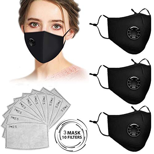 cheap4uk Reusable Face Masks Washable UK Dust Face Mask with Filter for Motorcycle Bicycle Running Cycling and Outdoor…