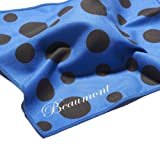 Beaumont BFC-BP Blue Polka Dot Microfiber Flute Cleaning Cloth