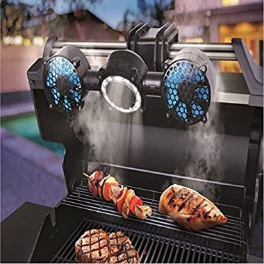 Sharper Image Portable / Adjustable 12-LED BBQ Grill Light & Fan