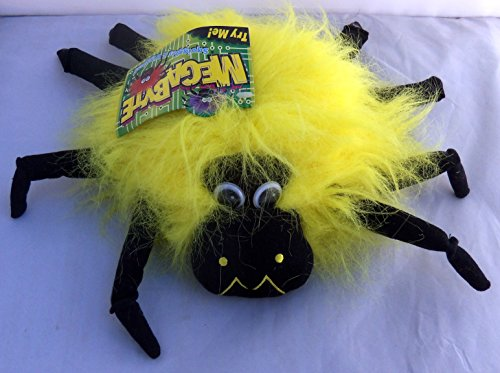 Halloween Megabyte Sound Activated Yellow Spider Wiggles Plush 9