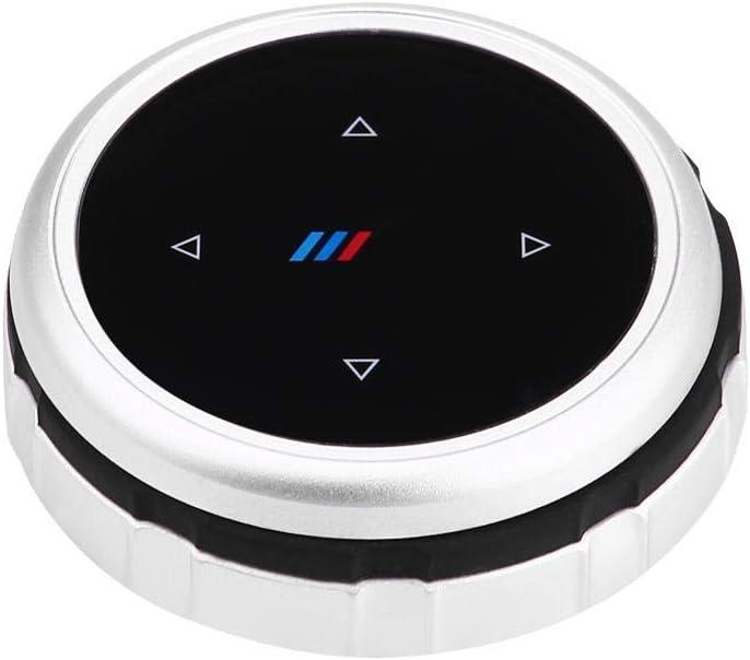 WYQ M Mark iDrive Control Knob Cover Upgrade Refit for BMW 1 3 5 6 7 Series GT X1 X3 X5 X6 X7 F30 E90 F10 F18 F25 E60 F48 Multimedia Knob Button Trim Car Accessories