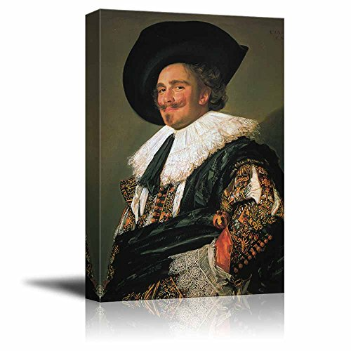 Laughing Cavalier by Frans Hals - Canvas Print Wall Art Famous Painting Reproduction - 24