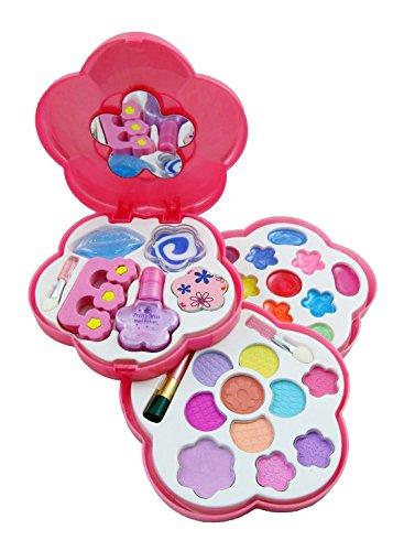 Petite Girls Play Cosmetics Set - Fashion Makeup Kit for Kids (Make Up Kit For Girls)