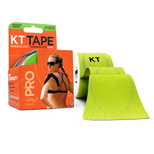 KT TAPE PRO Kinesiology Sports Tape, 20 Precut 10 Inch Strips, 100% Synthetic, Water Resistant, Breathable, Free Videos, Pro & Olympic Choice (Athletic Tape Roll)