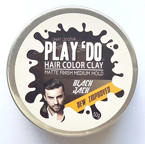 Play 'Do Temporary Hair Color, Hair Wax, Hair Clay, Mens Grooming, Pomade, Black hair dye(1.8 ounces) by Great Lengths (Image #4)