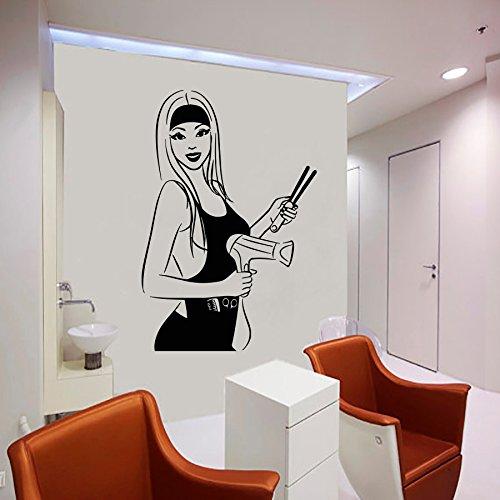 Wall Decal Window Sticker Beauty Salon Woman Face Hair Salon Hairstyle Style Hair t218