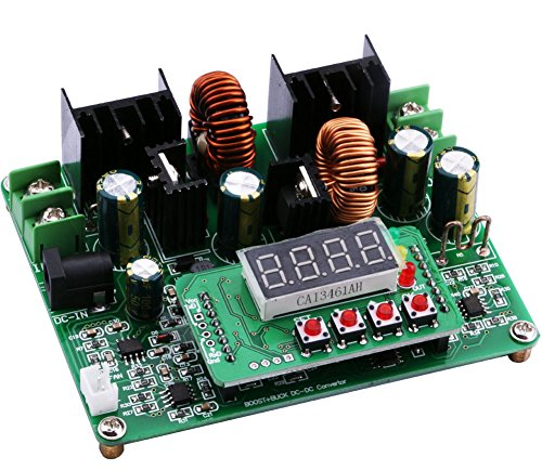 Boost Buck Converter, Yeeco Auto Buck-Boost Board Numerical Control Step Up Down DC 10V-40V 12v 24v 36v to 0-38V 5v 9v 6A 240W Adjustable Constant Current Voltage Regulator Power Power Supply Module