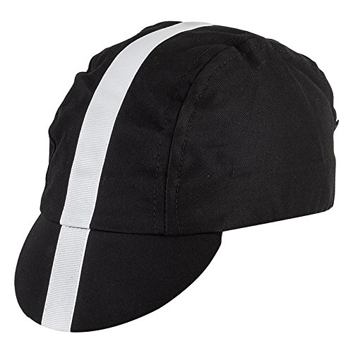 Pace Classic Cycling Cap (Black with White) (Cycling Cotton Cap)