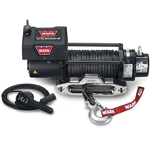 Warn 87835 VR8000-s Winch with Synthetic Rope by Warn
