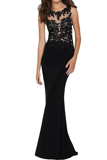 Gorgeous Bride Black Sexy Cross Back Evening Prom Dress Lace Chiffon: Amazon.co.uk: Clothing