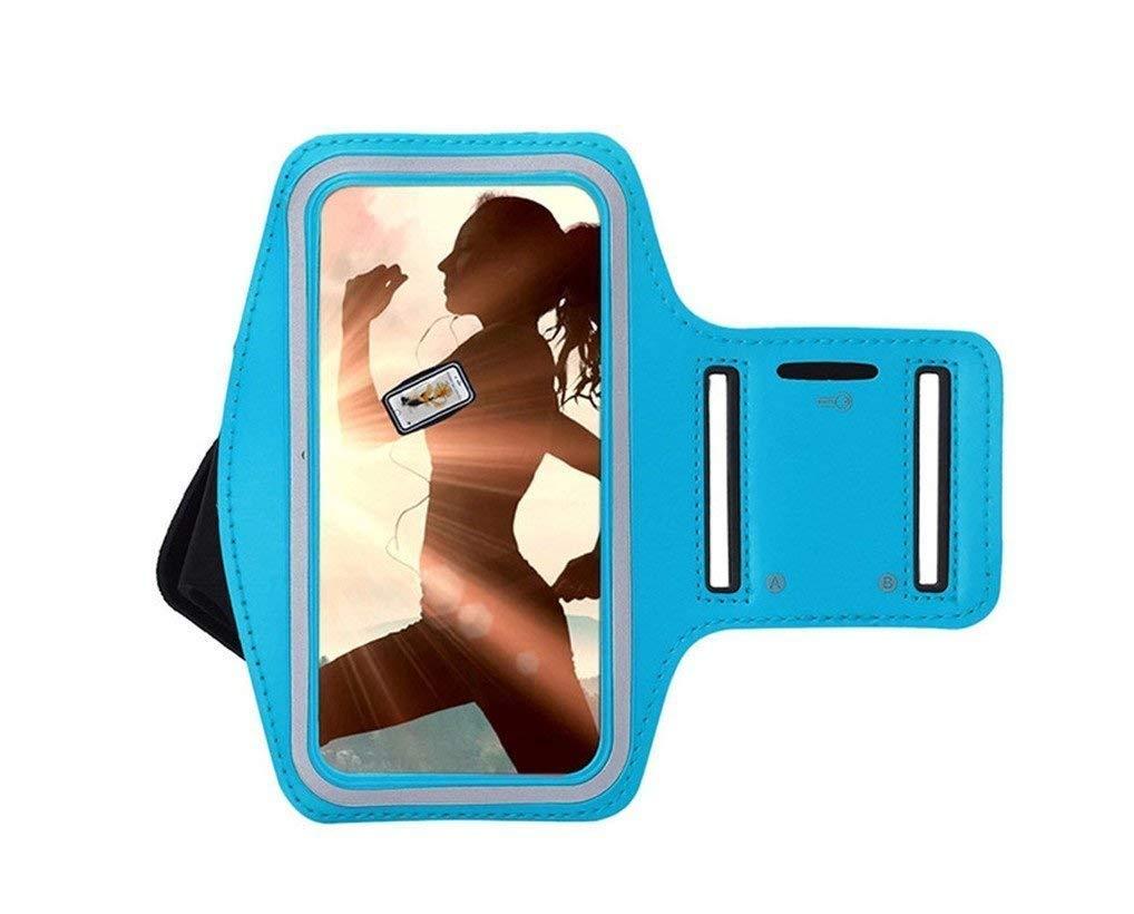 Brazalete Deportivo Huawei P Smart Plus de Neopreno Antideslizante antisudor Funda Deportiva Huawei P Smart Plus Brazalete movil Huawei P Smart Plus Soporte para Llaves Cable Tarjetas Rojo