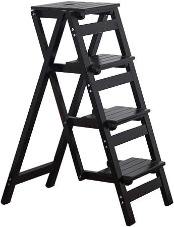 XZDENGZI Taburete de Escalera Plegable de Color Madera∣Banco de Madera Maciza for el hogar∣ Silla de Escalera engrosadora multifunción∣Escalera for Subir Estante Instalación Gratuita (Size : 2 Layer): Amazon.es: Hogar