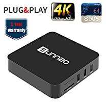 SUNNZO T2 TV Box Streaming Devices for TV/Streaming Media Players Android 6.0 4K WIFI