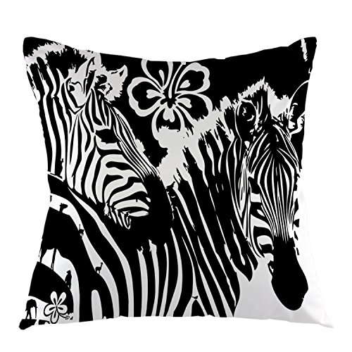 oFloral Decorative Zebra Stripe Pillow Case Cotton for sale  Delivered anywhere in USA