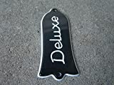 Quality Les paul bell shaped deluxe truss rod cover 2ply black + screws (TR-00023)