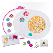 American Girl Crafts Pretty Button Clock