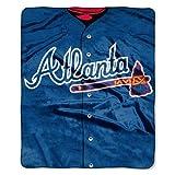 Atlanta Braves 50''x60'' Royal Plush Raschel Throw Blanket - Jersey Design