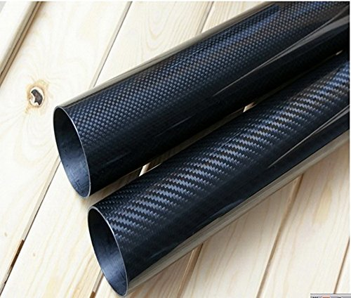 Abester Carbon Fiber Wing Tube ID 17mm x OD 18mm x 1000mm 3K Glossy Finish (1 Piece)