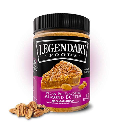 Legendary Foods | Pecan Pie Flavored Almond Nut Butter (16 oz Jar) | Natural Ingredients | Healthy Spread with No Added Sugar or Artificial Flavors