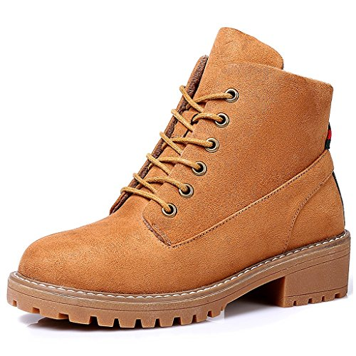 Women 's Martin boots autumn students personality fashion short boots ( Color : Brown , Size : US:6UK:5EUR:37 ) by LI SHI XIANG SHOP (Image #7)