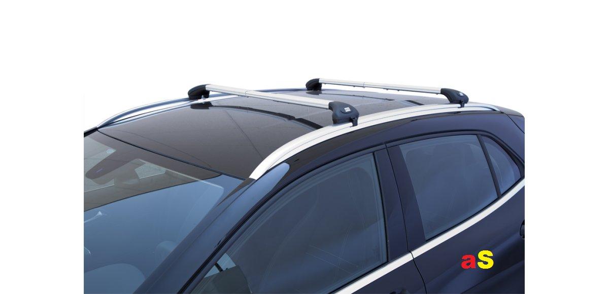 autoSHOP Barre PORTATUTTO per Auto Portapacchi Viva 2 Integrato per Auto con RELING LONGITUDINALI INTEGRATI sul Tetto Alluminio