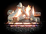 18-30 inch Dreffco Great Oak Complete Vented Gas Logs Kit with On/Off Remote Start