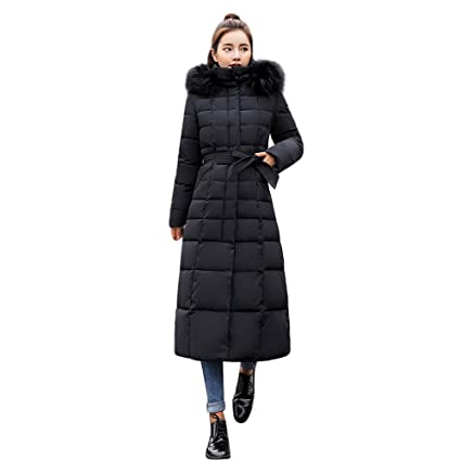 Memela Clearance Sale!! Womens Long Thickened Fur Jacket Long Cotton-Padded Jackets with