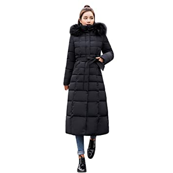 Amazon.com: Clearance Sale! Daoroka Women Winter Long Cotton-Padded Hoodies Coat Parka Ladies 2018 Fashion Pockets Casual Thick Solid Long Sleeve Jacket: ...