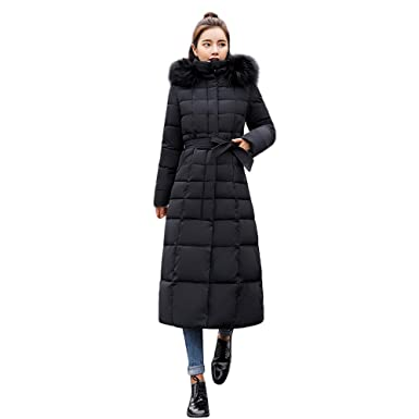 875158a91 Amazon.com: Fanteecy Women's Warm Parka Coat Winter Maxi Plus Size ...