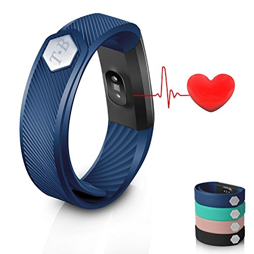 Fitness Tracker ID115Heart Rate Monitor TB Sedentary Call Reminding Remote Self-Timer Sleep QualityCalorie Counter Pedometer Wristband with Touch Screen Smart Bracelet For Android iOS Phone